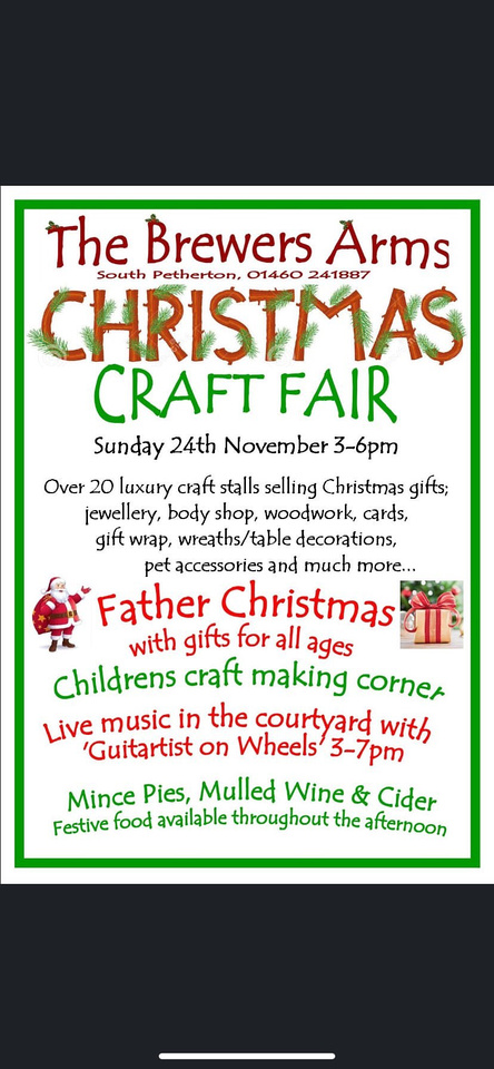 the brewers arms Christmas craft fair
