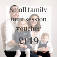 Small family mini session voucher £149 Somerset