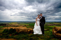 The Bride and Groom at Ham Hill in Somerset - wedding photographer somerset