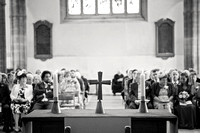 The guests in Church - somerset wedding photographer