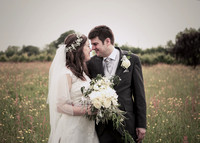 The buttercup fields with the Bride and Groom - local wedding photographer somerset