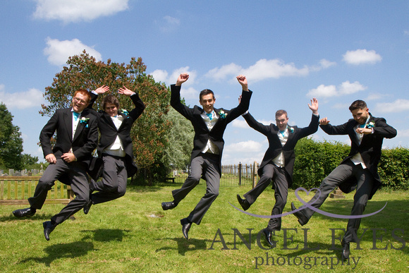 1, 2, 3 JUMP! - wedding photographer somerset