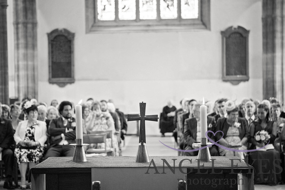 The guests in Church - somerset wedding photography