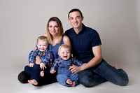 family dressed in blue - photographer somerset